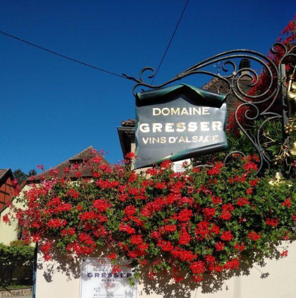 Domaine Gresser vins d'alice à Andlau - Entrée du domaine